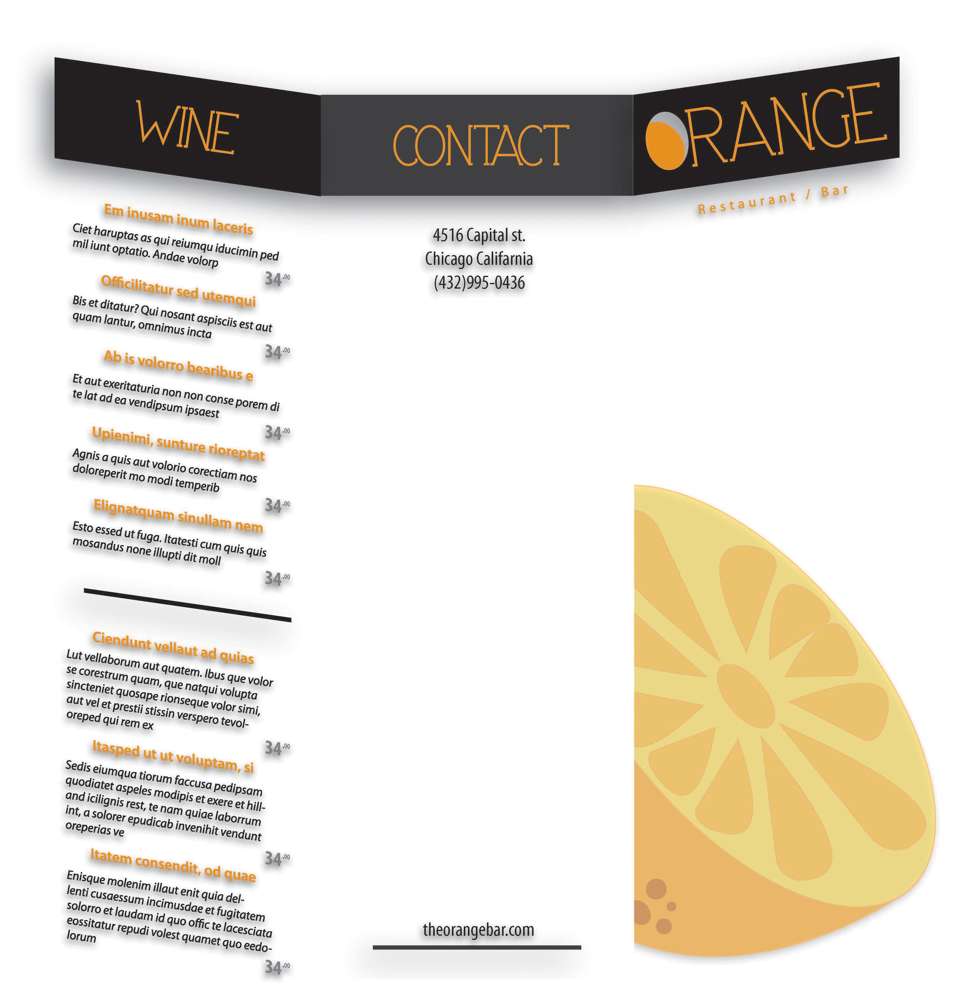 Orange restaurant concept by jose veliz on deviantart