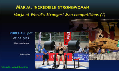 Marja at World's Strongest Man competitions 1