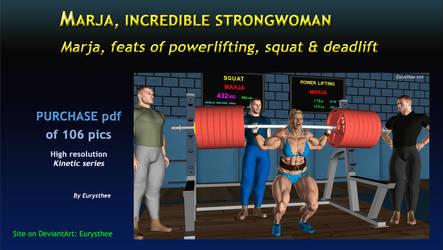 Marja, feats of powerlifting, squat  deadlift