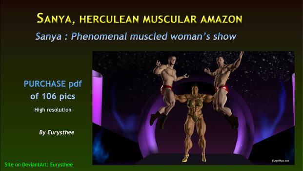 Sanya, phenomenal muscled woman's show