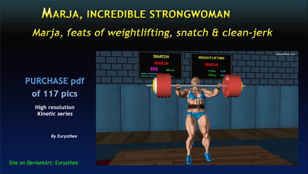 Marja, feats of weightlifting, snatch  clean-jerk
