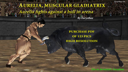Aurelia fights bull in arena