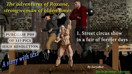 Roxane, street circus show in  a fair of formerly