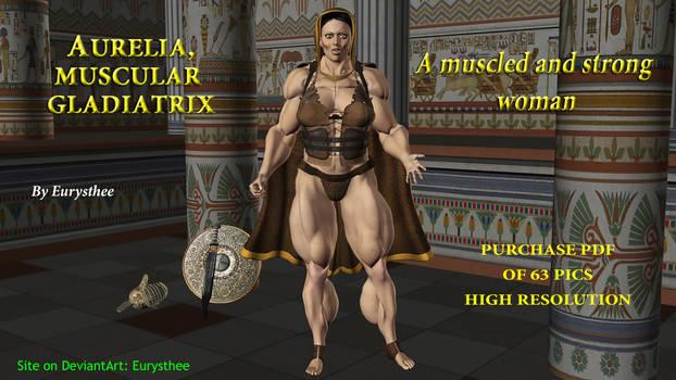 Aurelia, muscled  strong gladiatrix