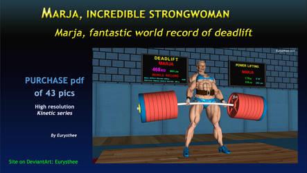 Marja, fantastic world record of deadlift