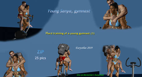 Young gymnast, hard training (1) zip by eurysthee