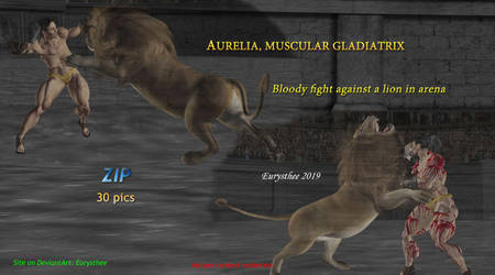 Aurelia, bloody fight vs lion zip by eurysthee
