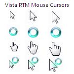 Vista RTM Mouse Cursors by Joshu4