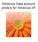 Vista account photo's for XP