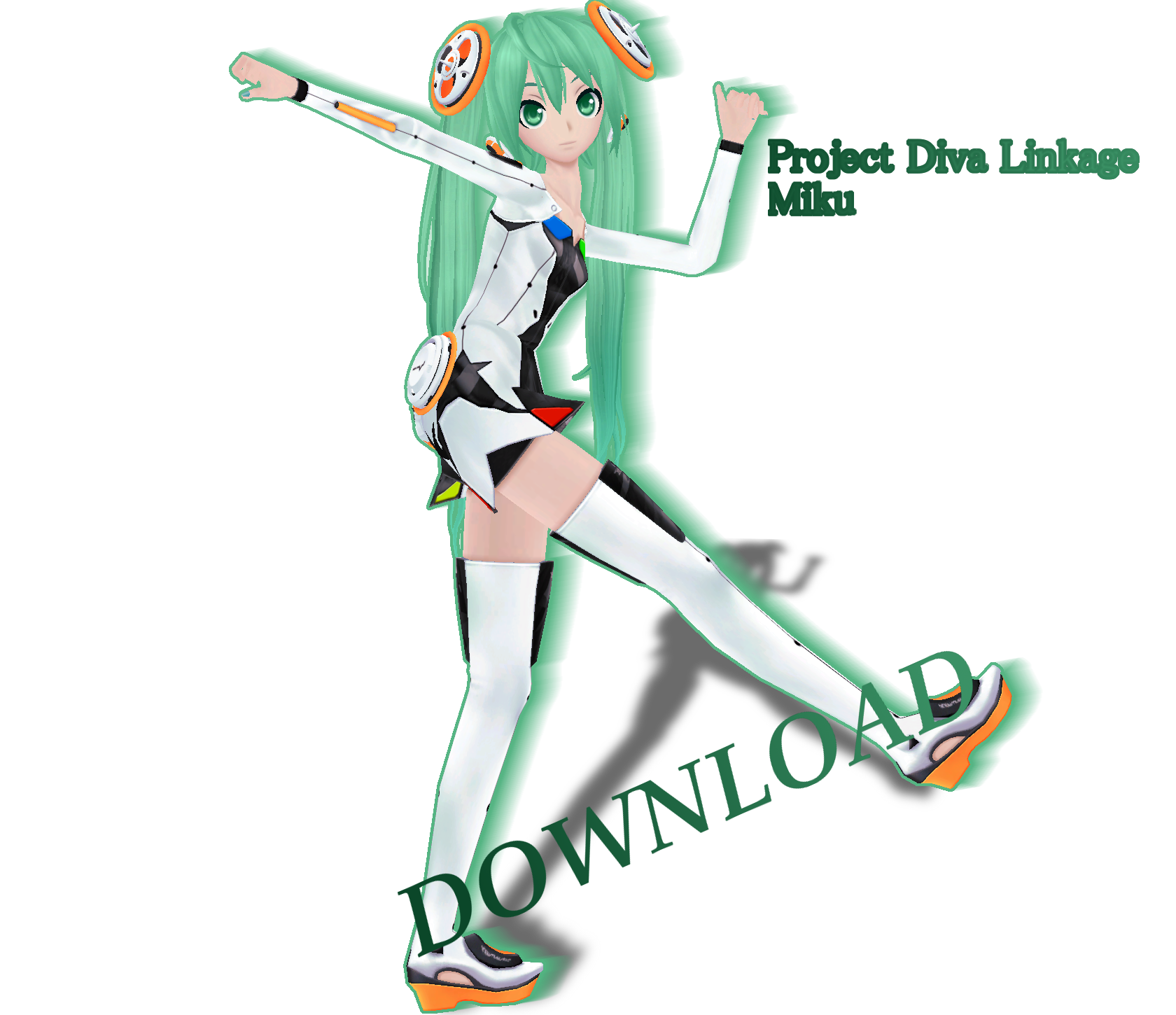 .:MMD:. Project Diva Linkage Miku [DOWNLOAD] by Len11999