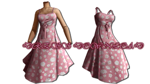 .:MMD:. [MVS] Pink Dress {DL} by Len11999