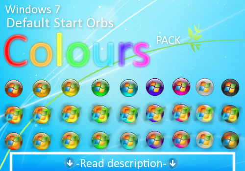 Colours : A colored Windows 7 default start orb by Giro54 on