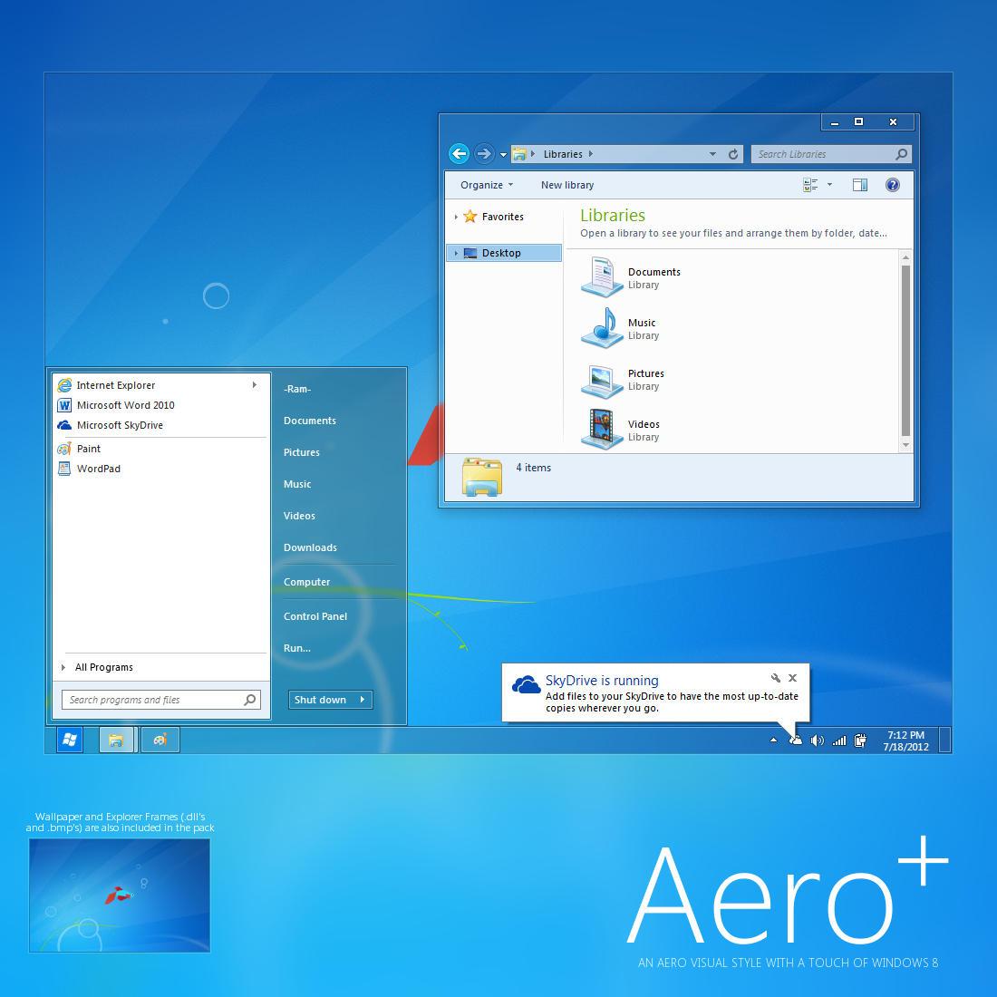 Windows Xp Theme File Software: Aero+ By Giro54 On DeviantArt