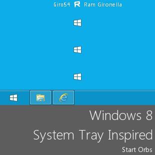 Windows 8 System Tray Inspired by Giro54
