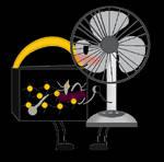 electric fan x make up case