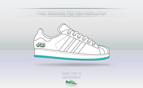 Adidas Superstar _ Free PSD