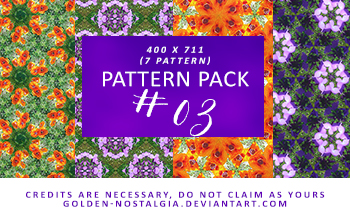 Pattern Pack #03 [200 Watchers Pack] by golden-nostalgia