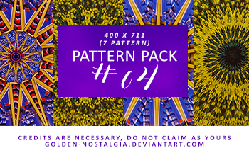 Pattern Pack #04 [200 Watchers Pack] by golden-nostalgia