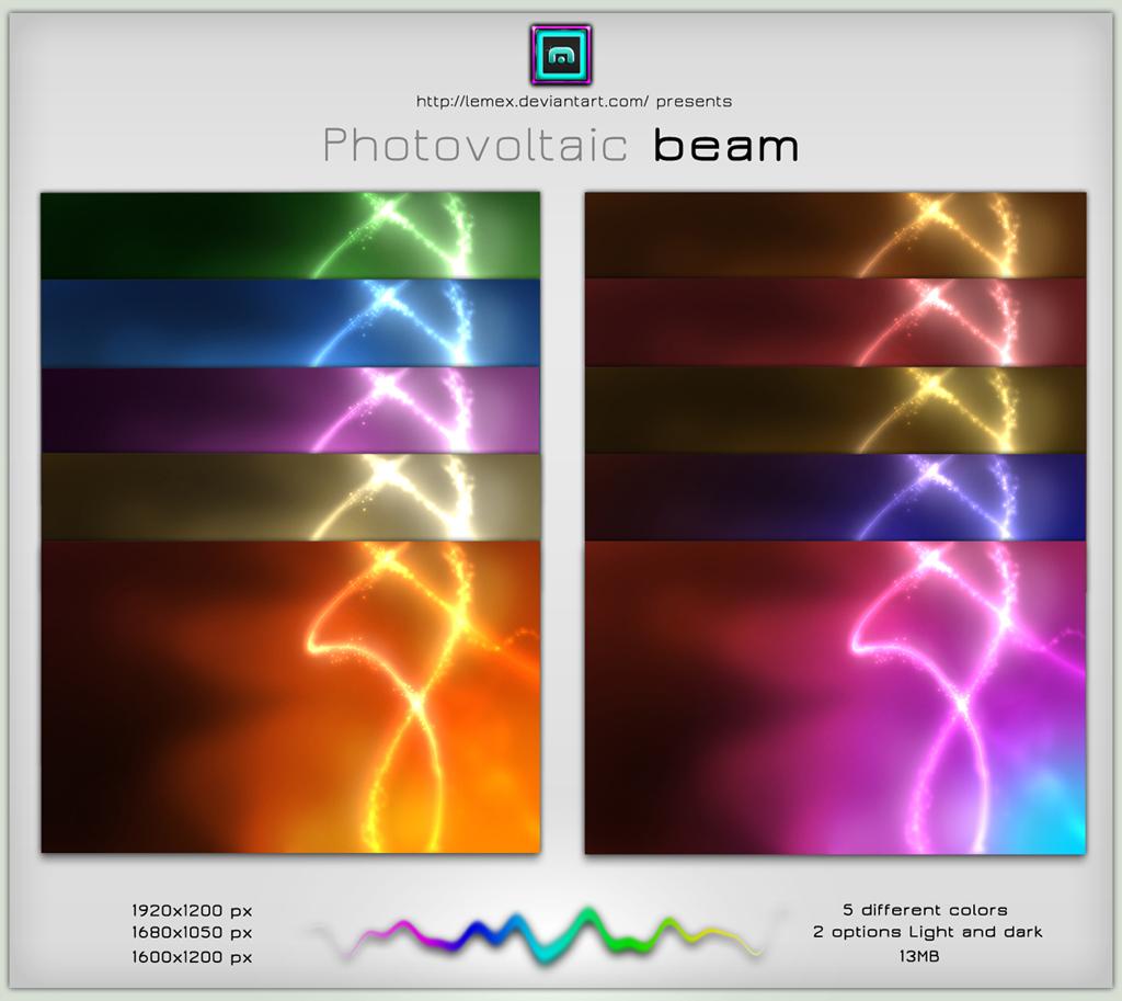 Photovoltaic beam pack