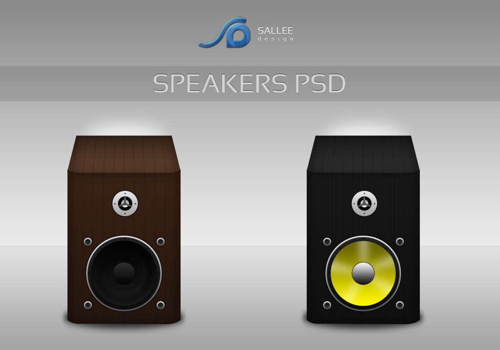 speakers icons psd