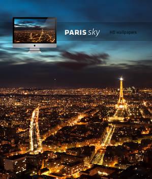 Paris night sky HD wallpaper