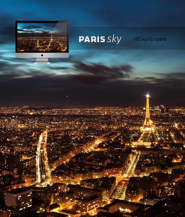 Paris night sky HD wallpaper by LeMex