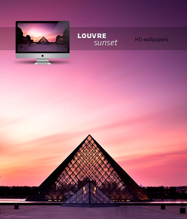 louvre sunset HD wallpaper