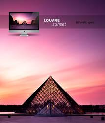 louvre sunset HD wallpaper by LeMex