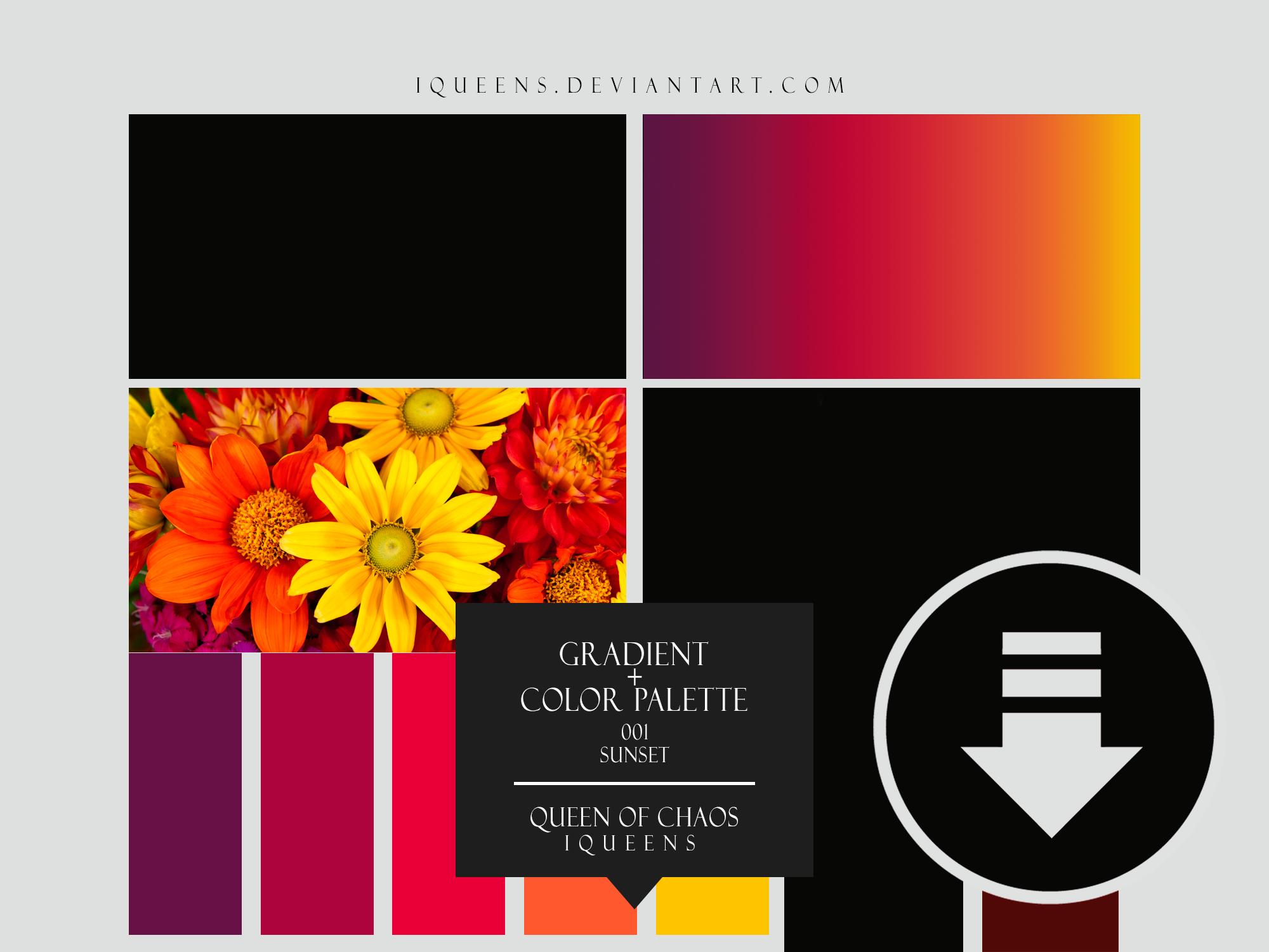 PS Gradient + Color Palette 001 | Sunset