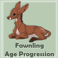Fawnling Age Progression by mule-deer