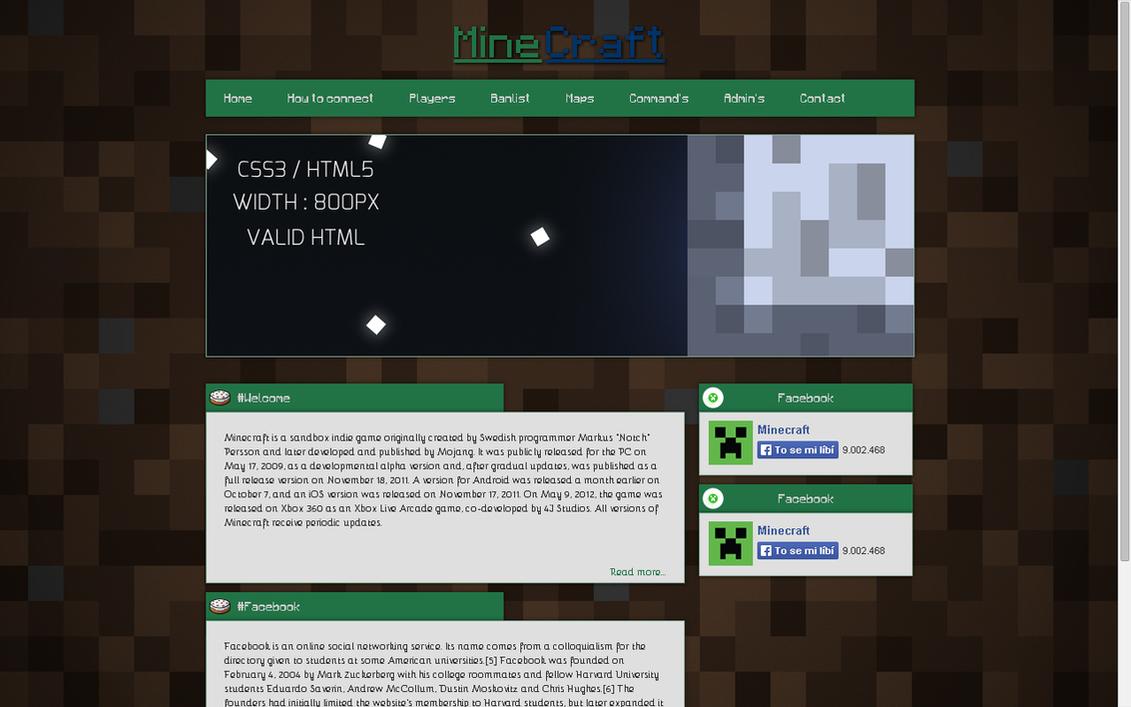Minecraft Template HTML CSS by Dixes96 on DeviantArt