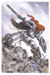 Red Sonja painting
