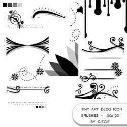 Tiny Art Deco Icon Brushes