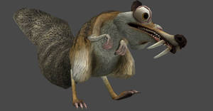 ICEAGE 3 SCRAT FULLY POSEABLE