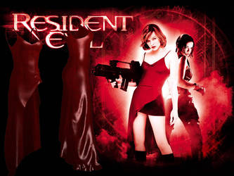 RESIDENT EVIL - THE MOVIE - ALICE RED DRESS by Oo-FiL-oO