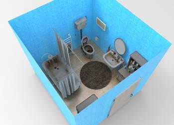 TNF - LITTLE BATHROOM by Oo-FiL-oO