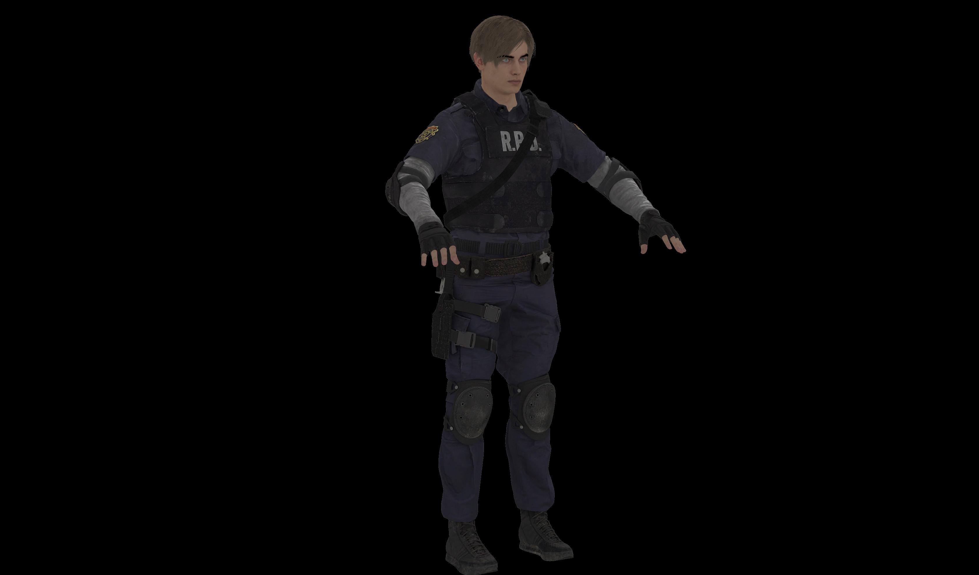 Resident Evil 2 Remake Leon Ingame Bones By Oo Fil Oo On Deviantart