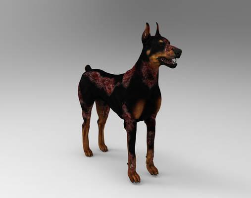 RE2 REMAKE - ZOMBIE DOG IN GAME BONES
