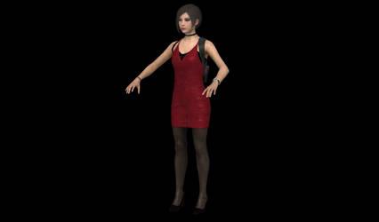 RE2 REMAKE - ADA RED DRESS INGAME BONES