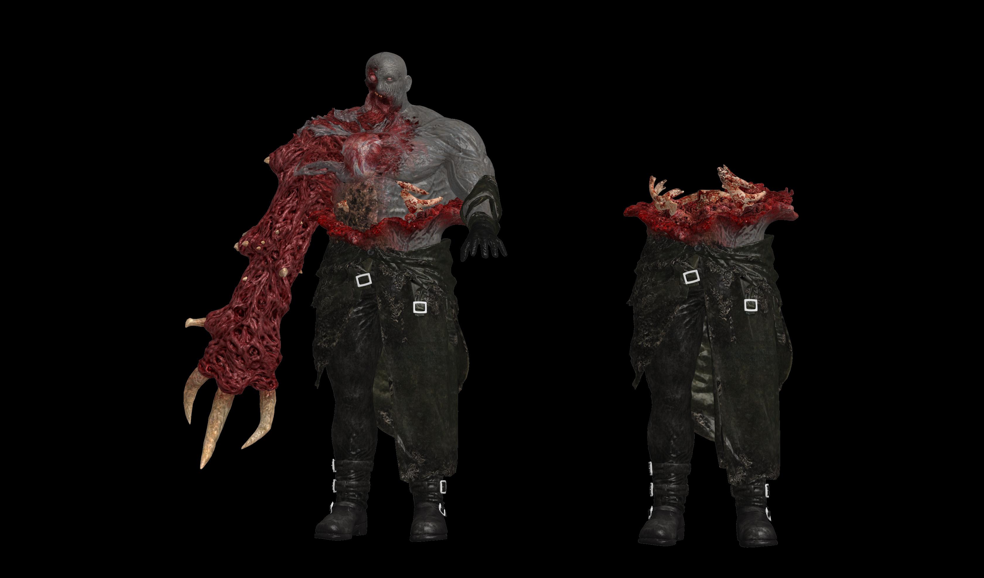 Re2 Remake Tyrant Ingame Bones By Oo Fil Oo On Deviantart
