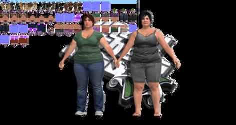 GTA V -  FAT GIRLS IN GAME BONES