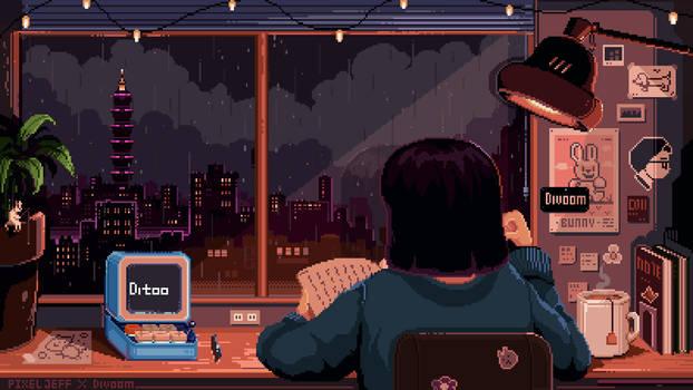 Pixel Jeff X Divoom