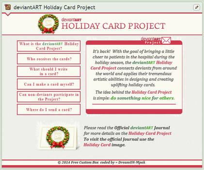 Holiday Card Project Custom Box 2014