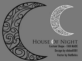House Of Night Moon Shape