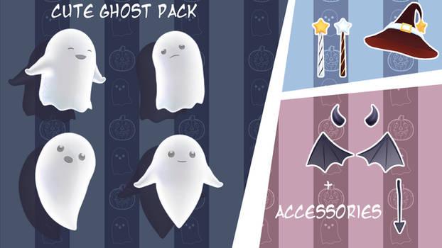 [MMD] Cute ghost pack (Download)