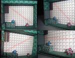 Megaman Vs Cutman Papercraft