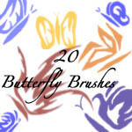 Butterfly Brushes by Candyninja