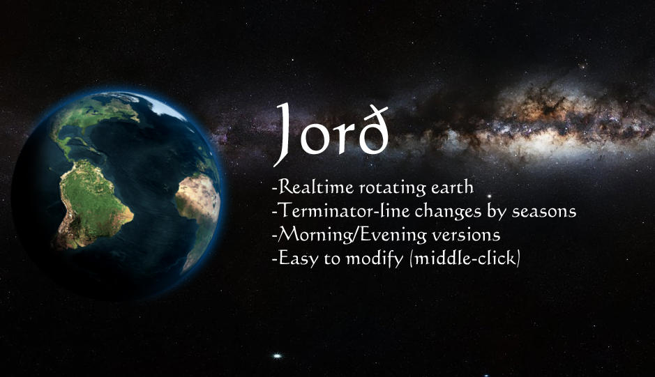 Jord - Rotating Earth (.rmskin)