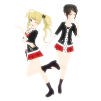 :Watchers Gift: MMD PD Despair Sisters Set DL by Oneirio