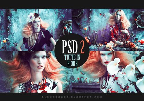 PSD coloring 2: Tutte in fiore by pretenditsfine